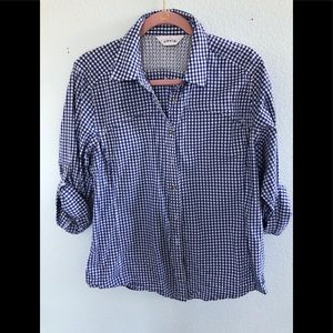 Orvis SPF blue and white gingham top